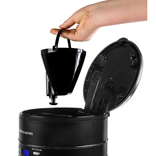 Andrew James Premium Filter Coffee Maker With Grinder : Andrew James Lumiglo 1000w Filter Coffee Maker Machine with 24 Hour Timer in Black, Washable ...