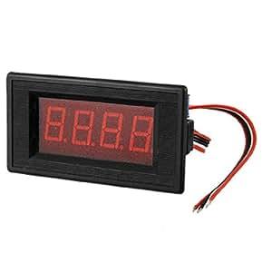 DC75A 3 1/2 Digital Red LED Panel Ammeter 5 Wires 75MV