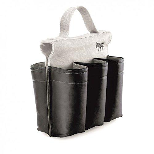 Six-slot Saddlebag Style Bike Bag, 6 Bottle Carrier with Handle, Black and White