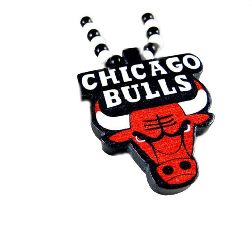 Dream Jewelry 2012 Good Quality Chicago Bulls Pendant Beaded Chain Wood Beads Rosary Necklaces