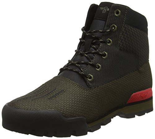 Creative Recreation Men's Torello Rain Boot, Military Black Primary Red, 9.5 M US