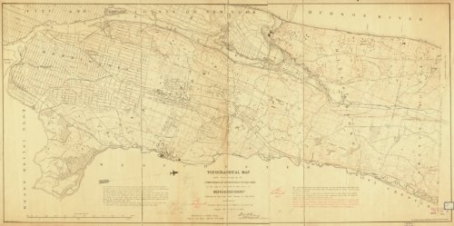 1874 Map Of Westchester, Ny, Topographic Topographical Made From Surveys By The