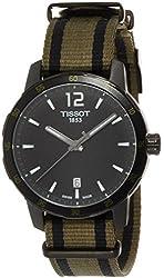 Tissot Quickster Nato Black Dial SS Textile Quartz Men's Watch T0954103705700