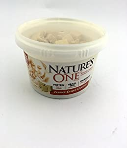 Bundle Pack of 2 Natures One Natural Freeze Dried Chicken Natural Cat Snack Treats -- Two 2 ounce Tubs for 4 ounces of wholesome Chicken Cat Treats