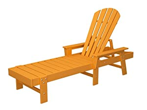 POLYWOOD SBC76TA South Beach Chaise, Tangerine