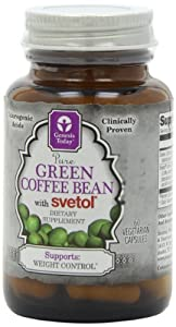 Genesis Today Green Coffee Bean with Svetol, 800 mg per Capsule, 60 Capsules per Bottle (Contains 200 mg of Svetol Green Coffee and 600 mg of regular Green Coffee per Capsule)