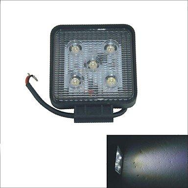 Rayshop - Carking Square 15W 6000K 5-Led White Light Car Spot Beam Offroad Work Light-12V/24V