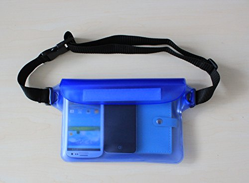 41ocLOCUO7L Waterproof Waist Bag   IPX8 Certified, Safe & Reliable, for Phones, Cameras, Passports & Other Gadgets & Documents   for All Travels, Camping, Hiking, Biking, Swimming, Boating, and Other Outdoor Activities (blue)