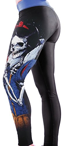 Anmengte Halloween Masquerade Party Cosplay Costume Legging 3D Printed Pants (one size)