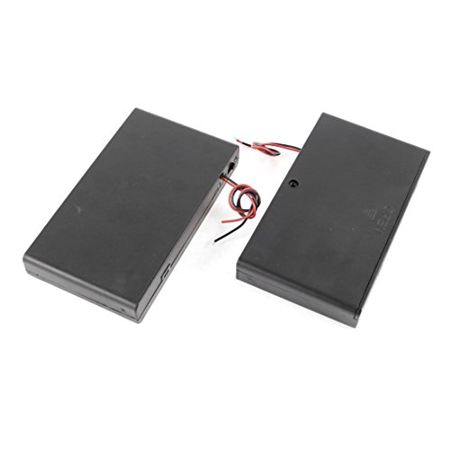 TOOGOO 2 Pcs 8 x AA 12V Battery Holder Case Box Wired ON/OFF