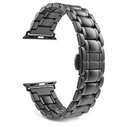 Apple Watch Band Series 1 Series 2, MoKo Stainless Steel Metal Replacement Smart Watch Strap Bracelet for Apple Watch 38mm All Models - Space GRAY (Not Fit iWatch 42mm 2016)