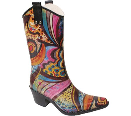 Beautiful Women's Rain Boots:Nomad Women's Yippy Rain Boot,Turquoise Monet,7 M US