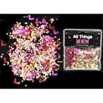 HEN NIGHT PARTY 'L' PLATE CONFETTI