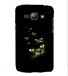 PRINTVISA Cat Eyes Case Cover for Samsung Galaxy J1 (2016 Edition)