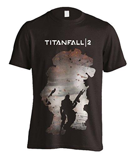 Titanfall 2 Regie Silhouette Respawn Xbox One ufficiale Uomo maglietta unisex (Large)