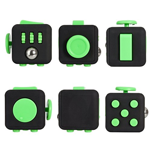 Black Green Fidget Cube