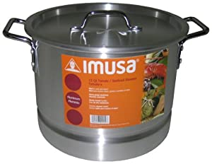 Imusa Aluminum Steamer Pot, 12-Quart