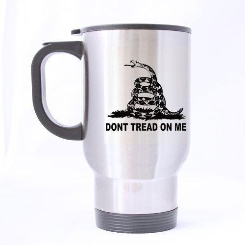 """Don'T Tread On Me"" Printing Custom Travel Mugs Coffee Cup 14 Ounce Bpcaese-365"