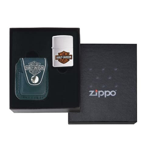 Zippo Harley Davidson Lighter and Pouch Gift Set