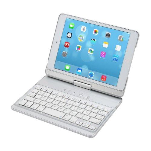 iPad mini用 ハードケース 一体型Bluetoothキーボード 「iPad mini Turnキーボードケース」 for iPadmini Retina (シルバー) CEN-SRB-TKC SV
