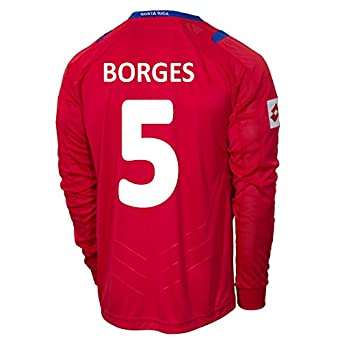 Buy Lotto BORGES #5 Costa Rica Home Jersey World Cup 2014 (Long Sleeve) by Lotto