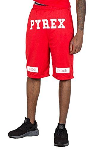 PYREX - Shorts da uomo over 28304 s rosso
