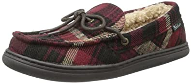 Woolrich Men's Lewisburg Moccasin,Chocolate Plaid,8 M US