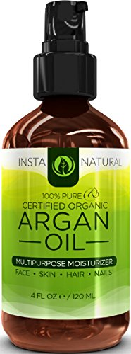 ORGANIC Argan Oil For Hair, Face, Skin & Nails - 100% PURE & ECOCERT Certified -Huge 4OZ Bottle- Moroccan Argan Oil is Therapeutic for Every Skin Condition - Also Great for Acne, Dry Scalp, Split Ends, Frizzy Hair, Stretch Marks, Body Cuticles & MORE - This Argania Spinosa is Guaranteed To Make Your Body Shine!
