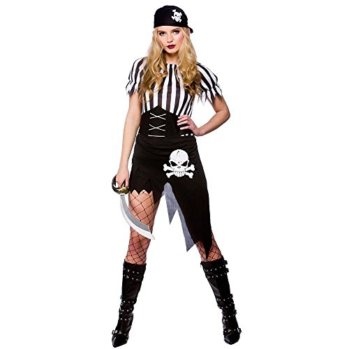 Adult Ladies Shipwrecked Pirate Costume Women Fancy Dress