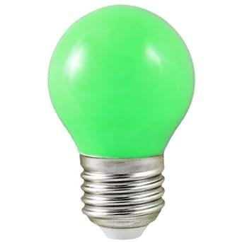 vision el ampoule led 0 5w culot e27 forme boule couleur verte luminaires et. Black Bedroom Furniture Sets. Home Design Ideas