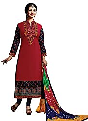 Angel Sales Ayesha Red Dress Materials
