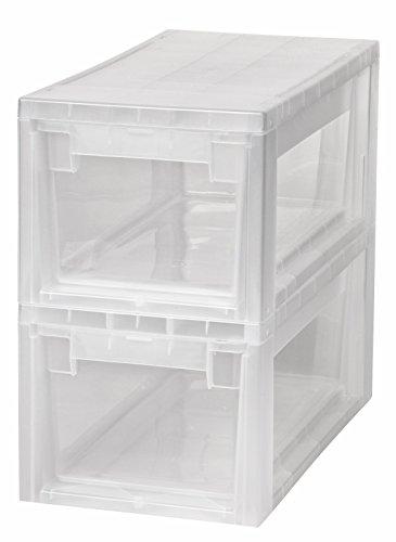 2-Stck-Schubladenboxen-mit-Nutzvolumen-7-Liter-pro-Box-Passend-fr-zB-Socken-Krawatten-CDs-und-DVDs-etc-Mae-pro-Box-196-x-39-x-16-cm