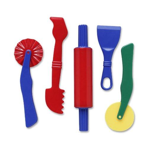 Creativity Street Quality Product By Chenille Kraft Company - Clay Dough Tools Set 5 Piece Assorted Colors