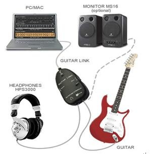 Usb Guitar To Pc Audio Interface Cable