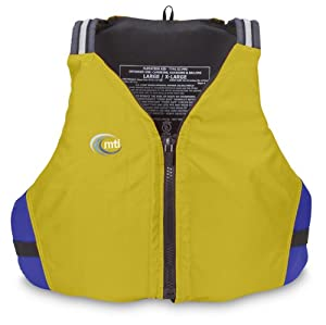 MTI Adventurewear Journey PFD Life Jacket (Olive Oil/Blue, Large/X-Large)