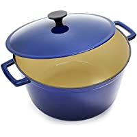 Sur La Table Lightweight Cast Iron Dutch Oven - Blue / Red
