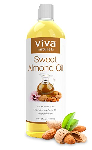 Viva Naturals Sweet Almond Oil, Hexane Free for Skin and Hair, 16 oz / 473 ml (Natural Almond Oil compare prices)