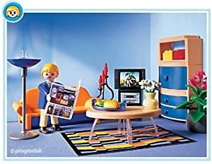 Playmobil family room toys games for Maison moderne playmobil