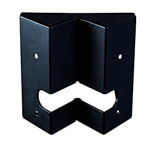 Fixation d'angle couleur noir pour détecteurs Luxa