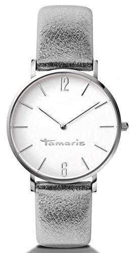 Tamaris - B01027010 - Montre Femme - Quartz - Analogique - Bracelet cuir Argent