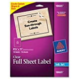 3 Pack Easy Peel Mailing Labels for Inkjet Printers, 8-1/2 x 11, Clear, 10/Pack by AVERY-DENNISON (Catalog Category: Labels, Label Makers, Tags & Stamps / Labels / Address/Mailing)