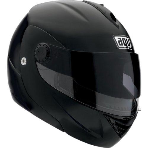 AGV Solid Miglia Modular II Street Bike Motorcycle Helmet - Flat Black / Large