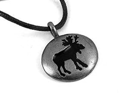 Moose Spirit Guide Silver Tone Pewter Pendant, Courage, Determination, and Clarity