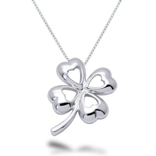Four Leaf Clover Necklace Sterling Silver