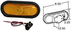 Truck-Lite 60002Y Yellow Super 60 Stop/Turn/Tail Oval Sealed
