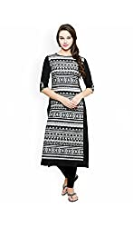 AnjuShree Choice Womens Cotton Kurti (ASC038_42_XL_X-Large_BLACK)