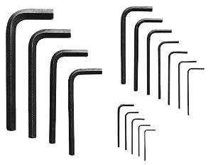 Allen 56032 Short Arm SAE Hex Key Set, 15-Piece