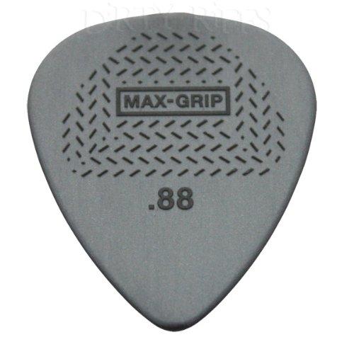 12 x Dunlop Max Grip Standard-Plettri da chitarra, 0,88 mm, In pratica confezione di latta