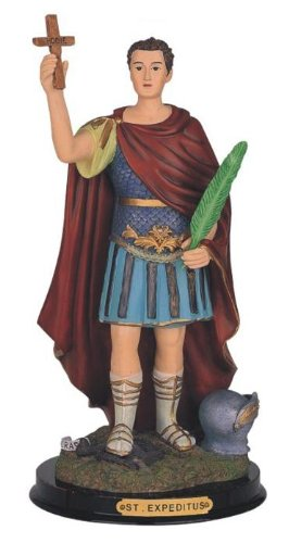 12 Inch Saint Expeditus Holy Figure Religious Decoration Statue Decor