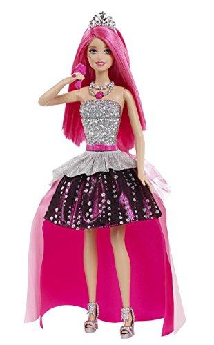 Mattel Barbie CMR83  - Eine Prinzessin im Rockstar Camp - Prinzessin Courtney mit Mikrofon